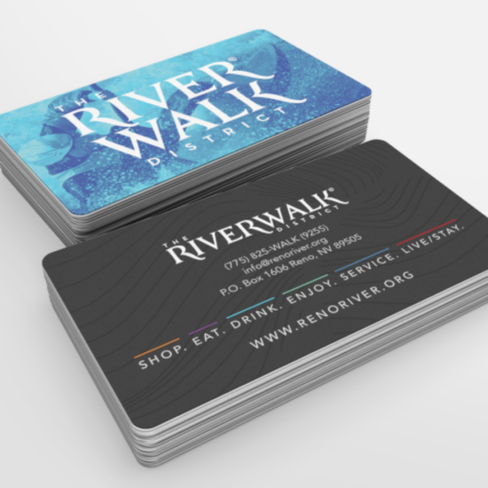 The Riverwalk District Business Cards