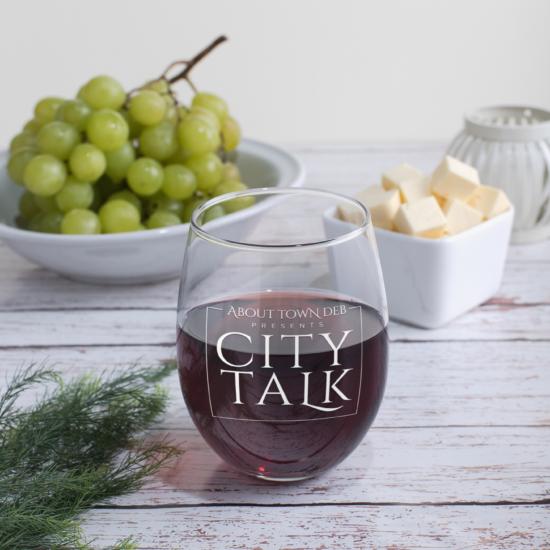 City Talk Wine Glass